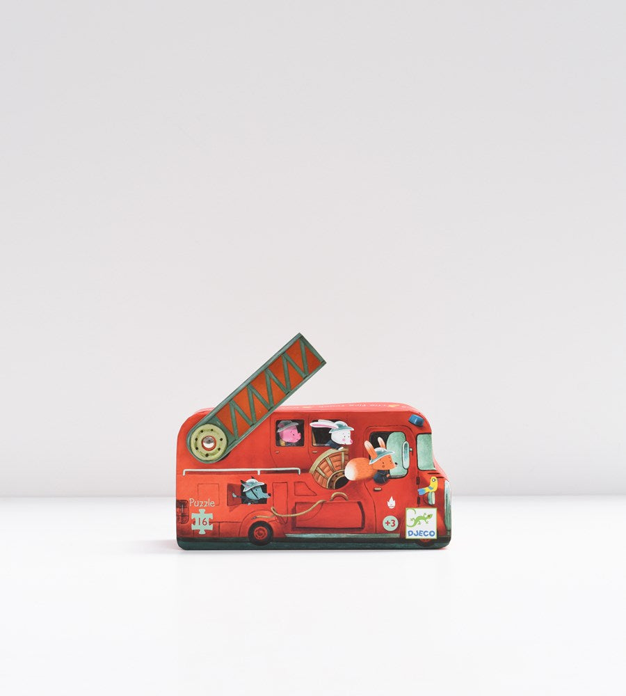 Djeco The Fire Truck Puzzle 16 Pieces