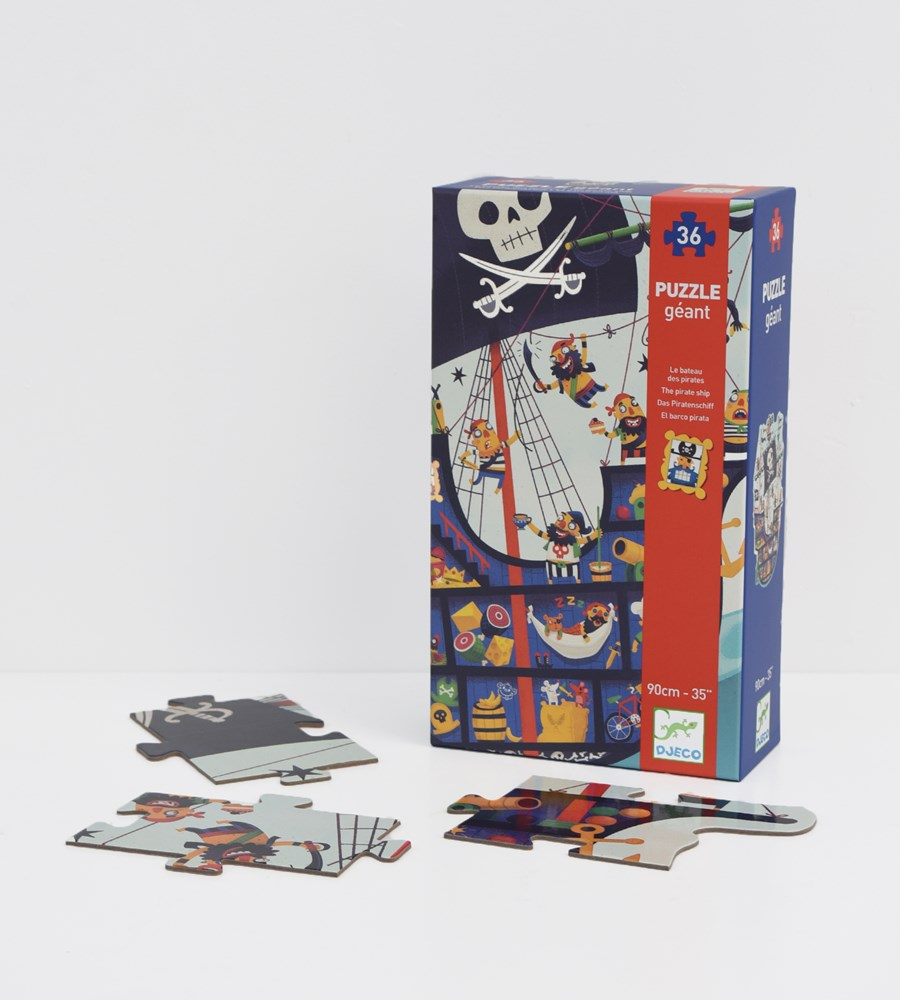 Djeco | The Pirate Ship | 36 Piece Puzzle