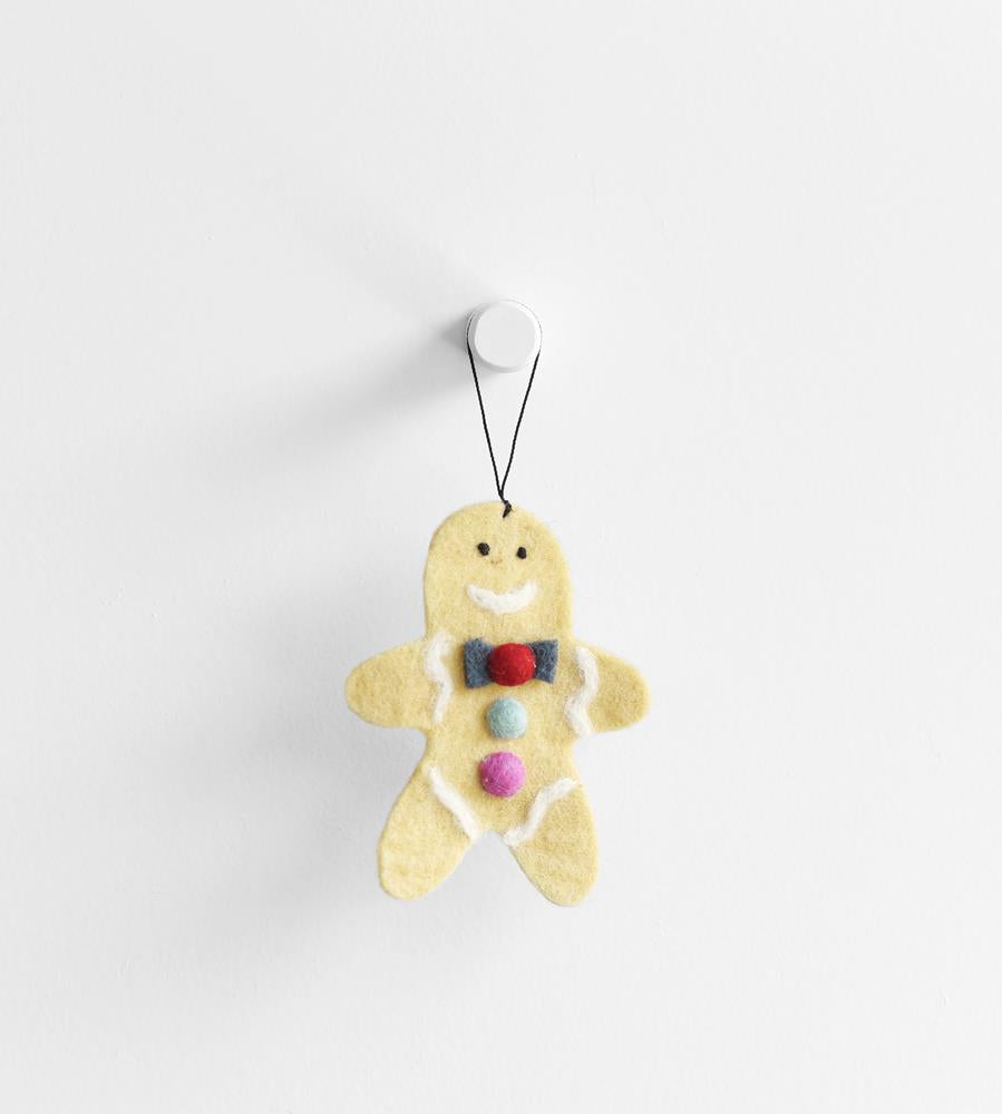 Christmas Decoration | Hanging Felt Gingerbread Man