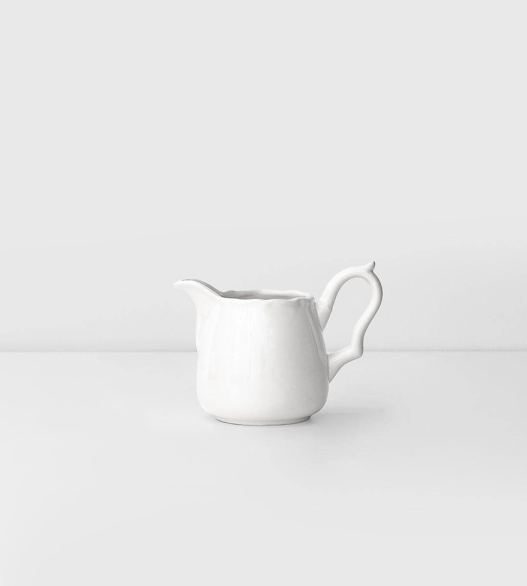Elise White Milk Jug