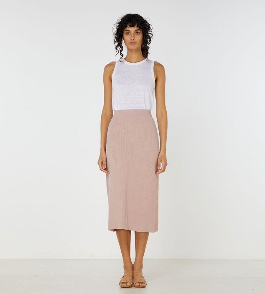 Elka Collective | Airley Knit Skirt | Dry Rose