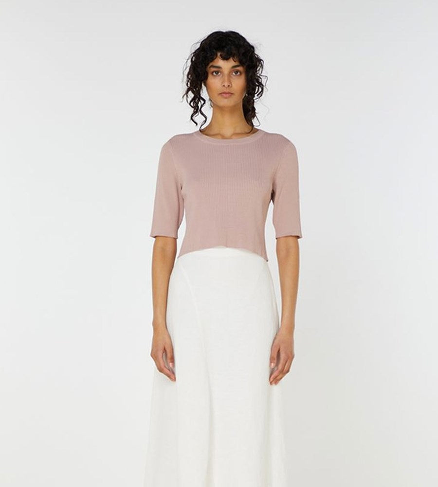 Elka Collective | Airley Knit Top | Dry Rose