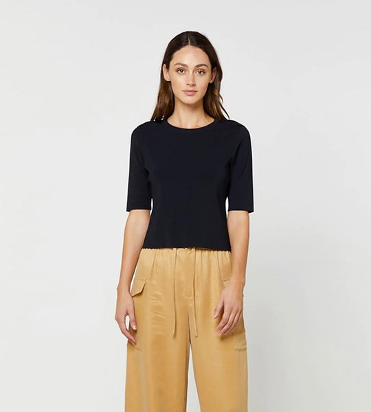 Elka Collective | Alba Knit Top Black
