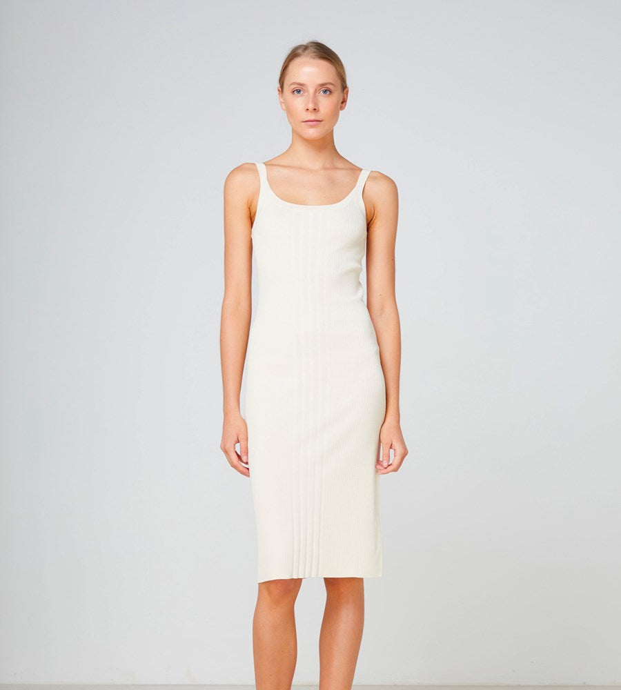 Elka Collective | Cabrini Knit Dress | Cream