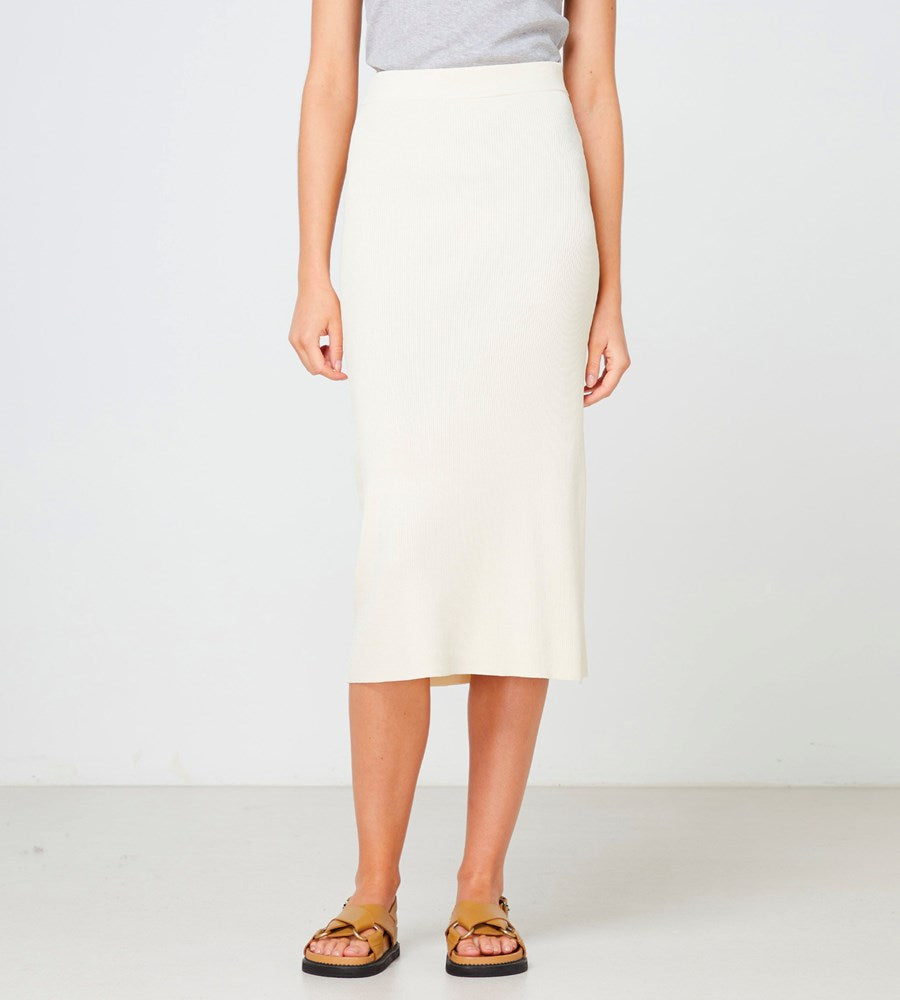 Elka Collective | Cabrini Knit Skirt | Cream