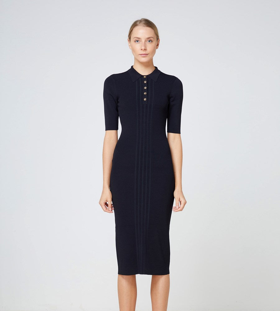 Elka Collective | Carmine Knit Dress | Black