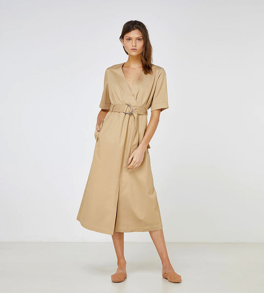 Elka Collective | Delvene Dress | Sandstone