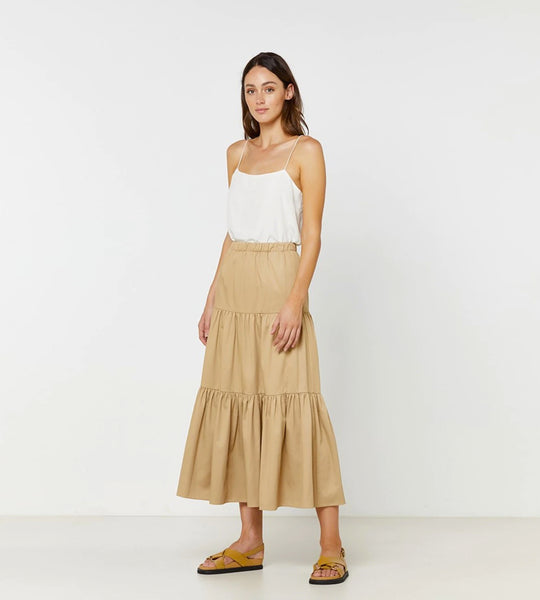Elka Collective | Delvene Skirt | Sandstone