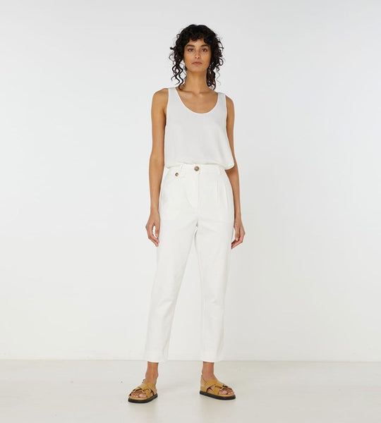 Elka Collective | Desi Pant | White
