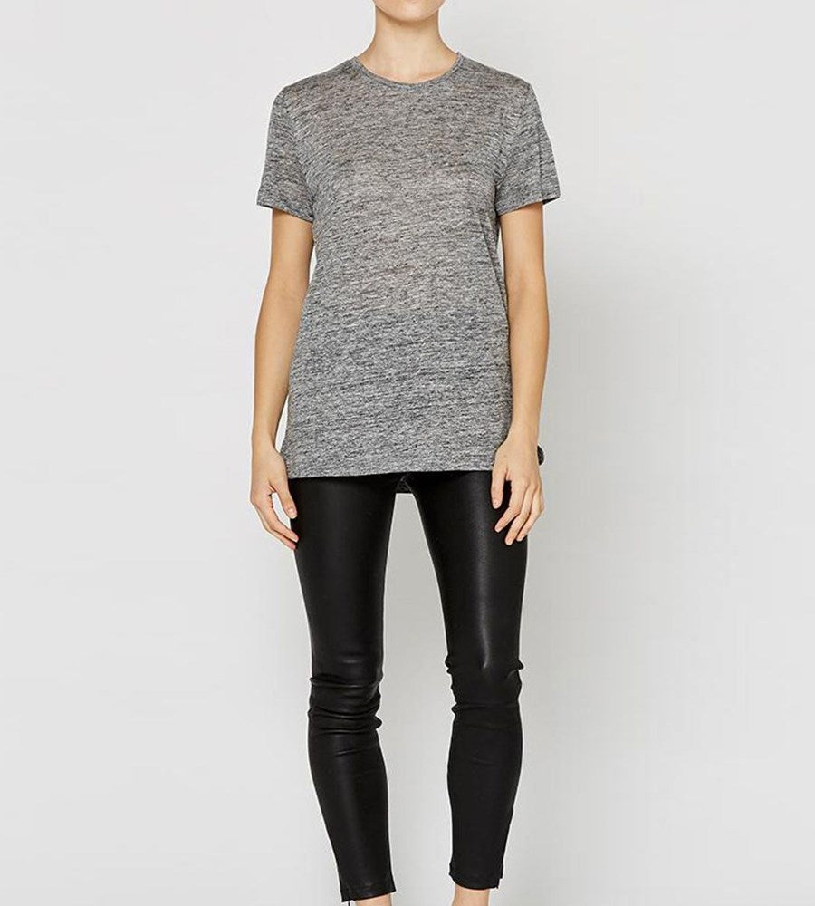 Elka Collective EC Linen Crew Neck Tee Grey Marle