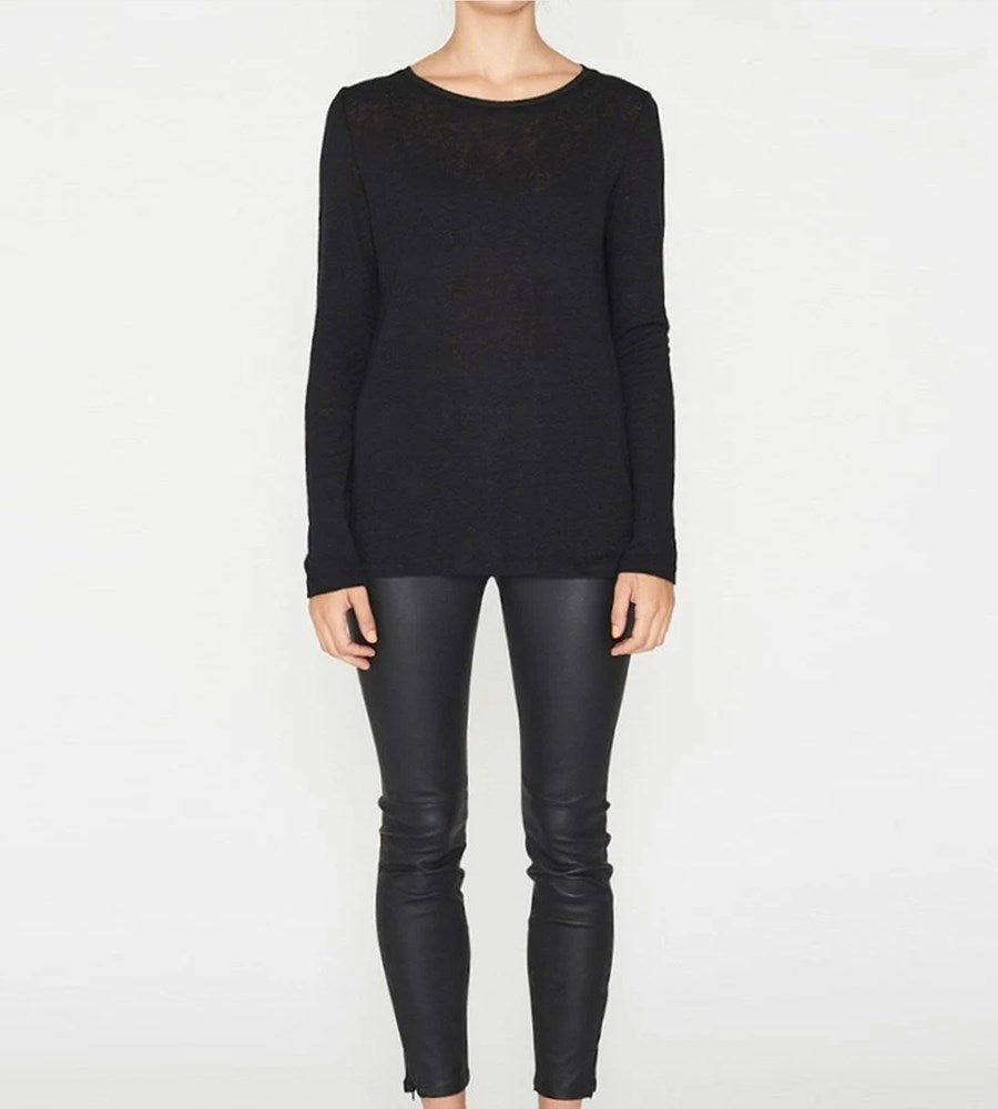 Elka Collective EC Linen Long Sleeve Tee Black