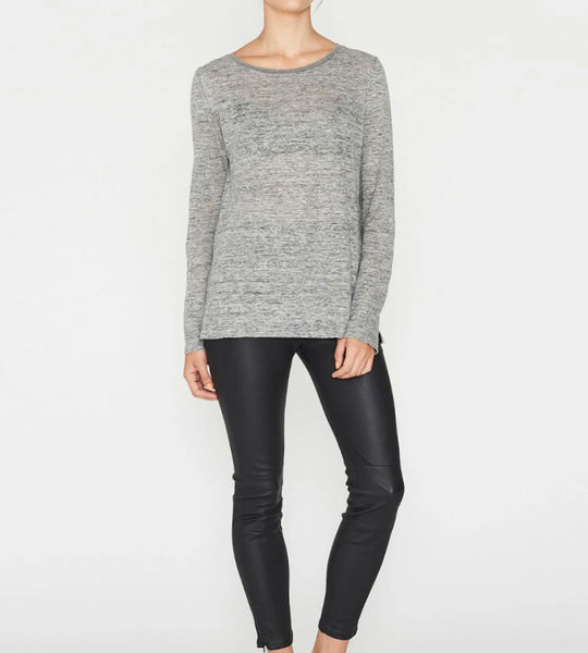 Elka Collective EC Linen Long Sleeve Tee Grey Marle