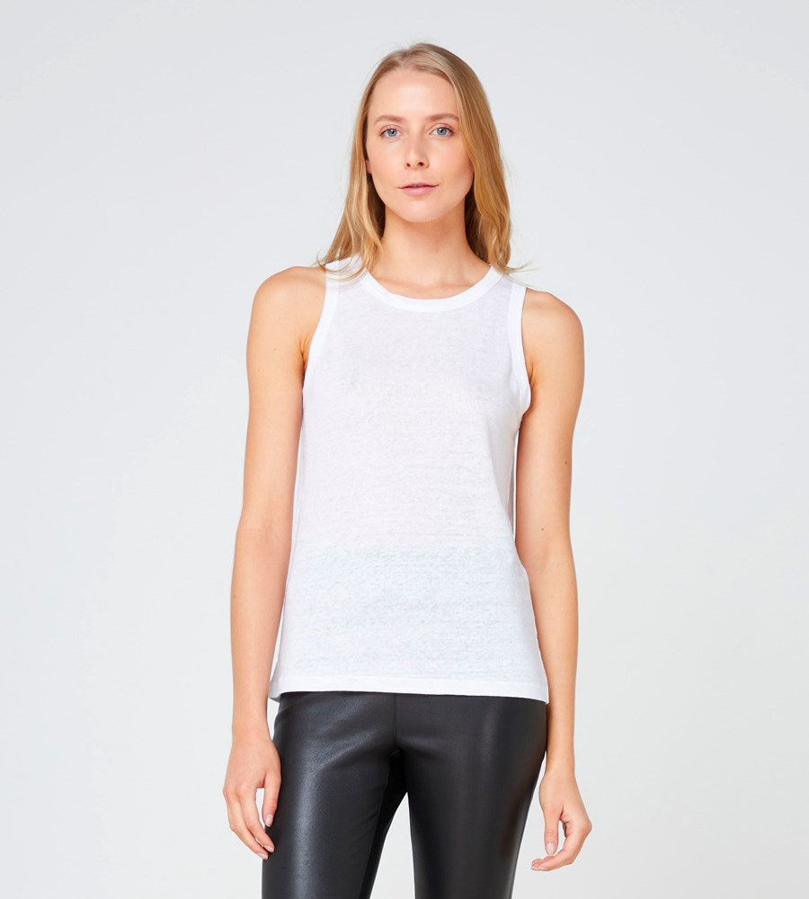 Elka Collective | EC Linen Tank 2.0 | White