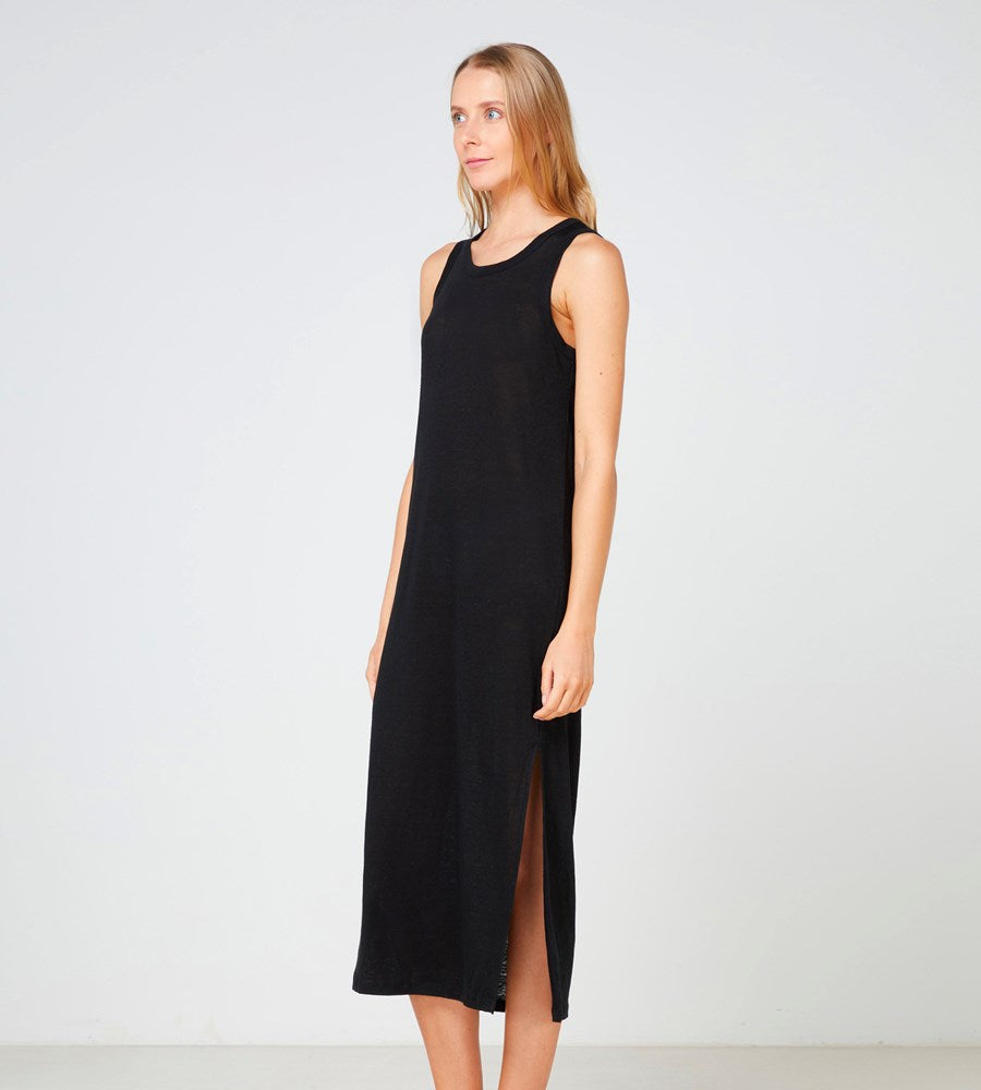 Elka Collective | EC Linen Tank Dress 2.0 | Black