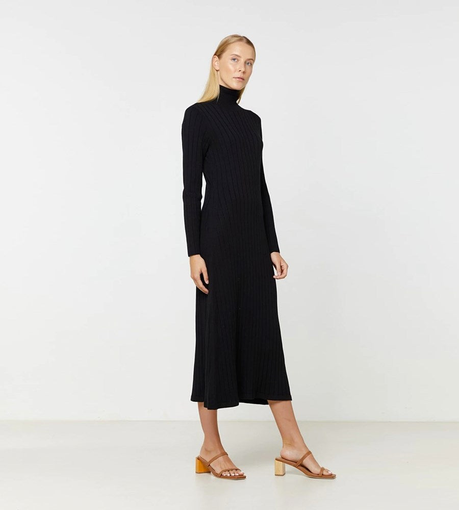 Elka Collective | Eden Knit Dress | Black