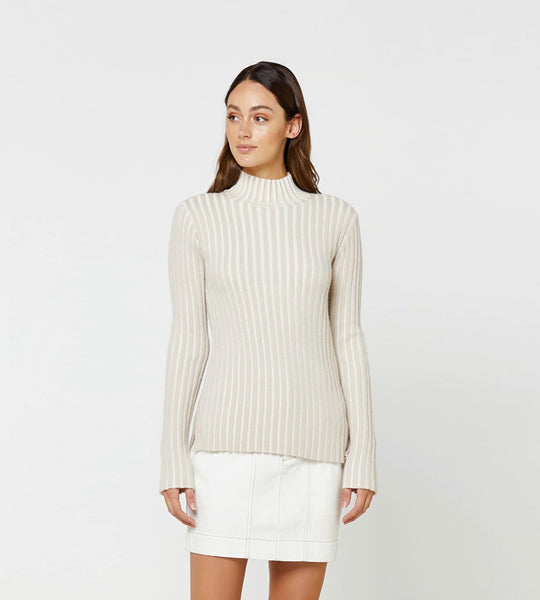 Elka Collective Esta Knit Chalk Stripe