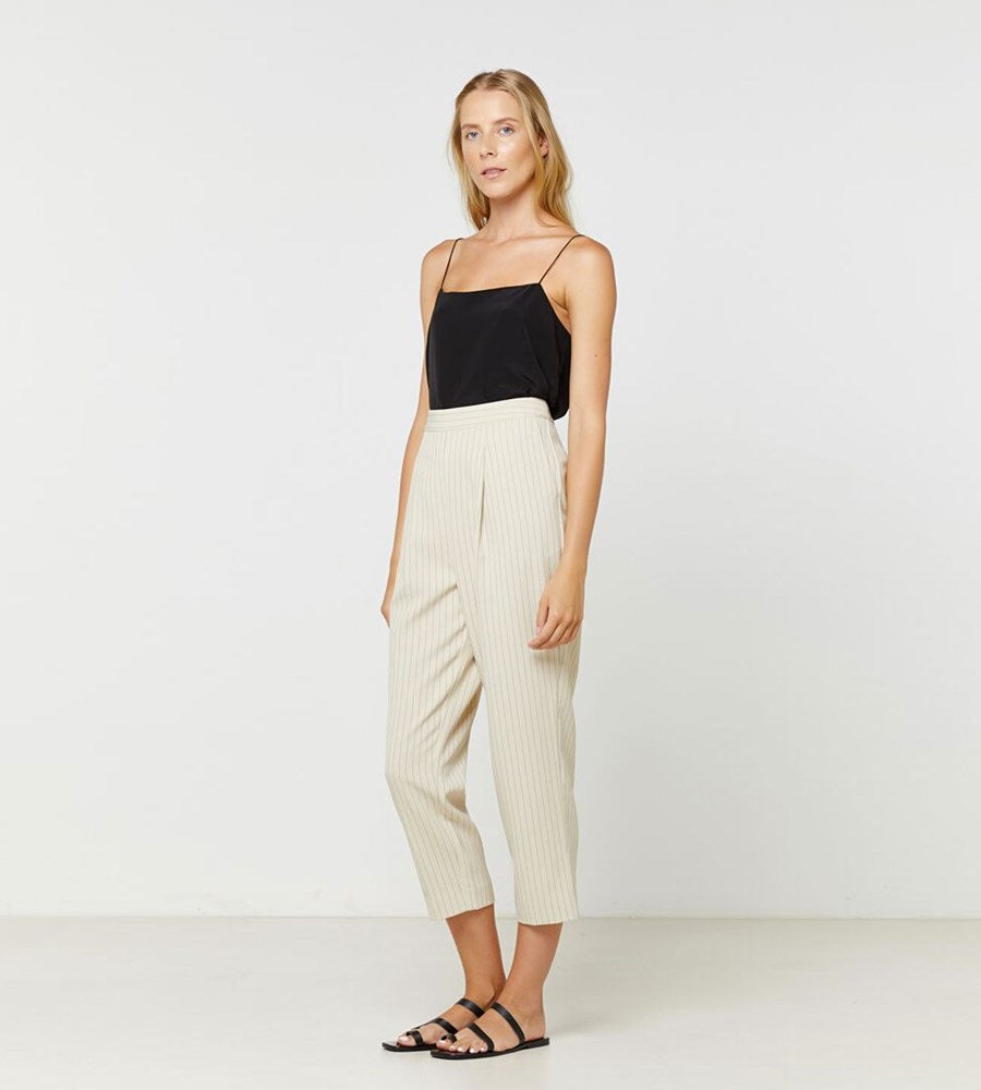 Elka Collective | Everly Pant | Parchment Pinstripe