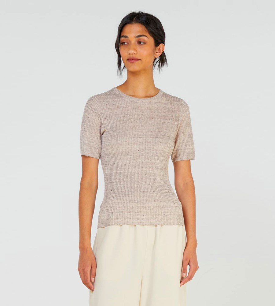 Elka Collective | Flint Knit Top | Cocoa Marle