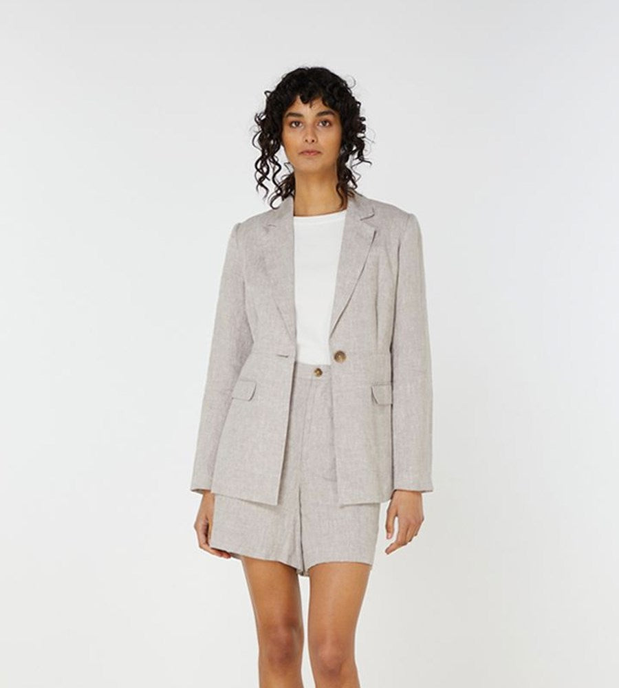 Elka Collective | Georgina Blazer | Dove Linen