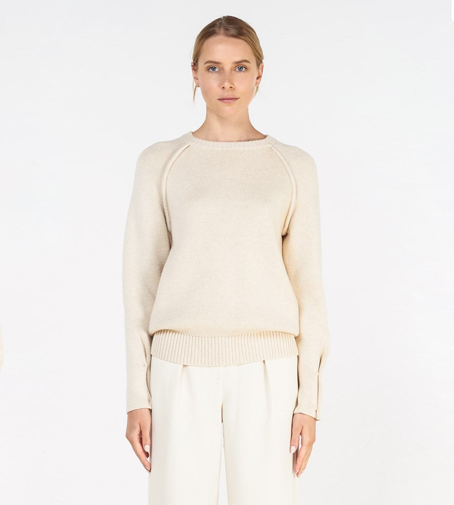 Elka Collective | Grenoble Knit | White Marble