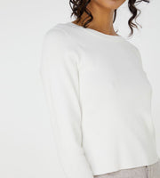 Elka Collective | Imani Knit Top | White
