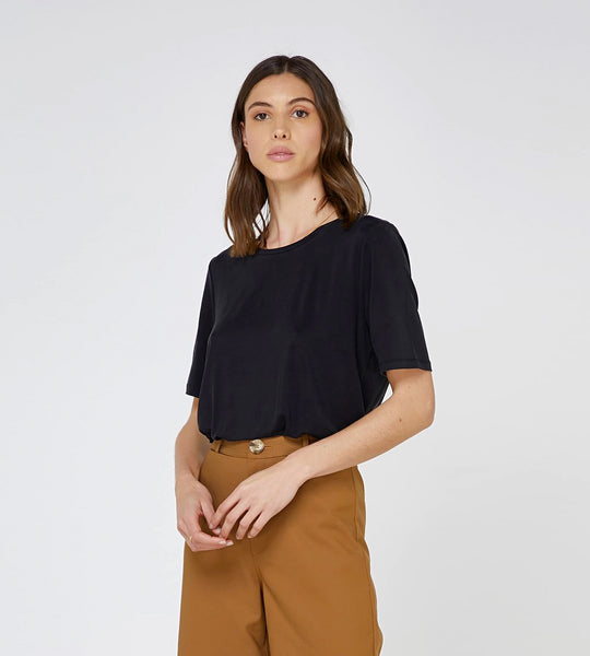 Elka Collective Josette Tee Black
