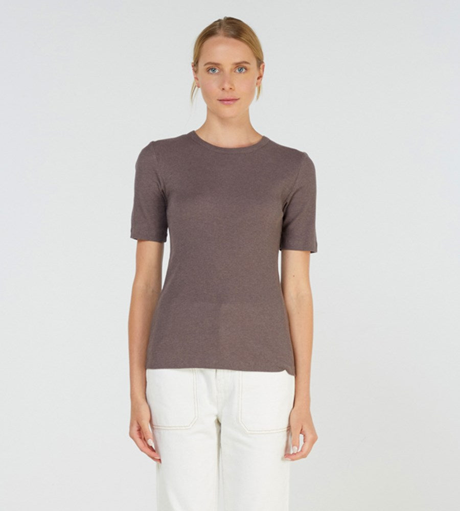 Elka Collective | Kindred Tee | Cocoa Marle
