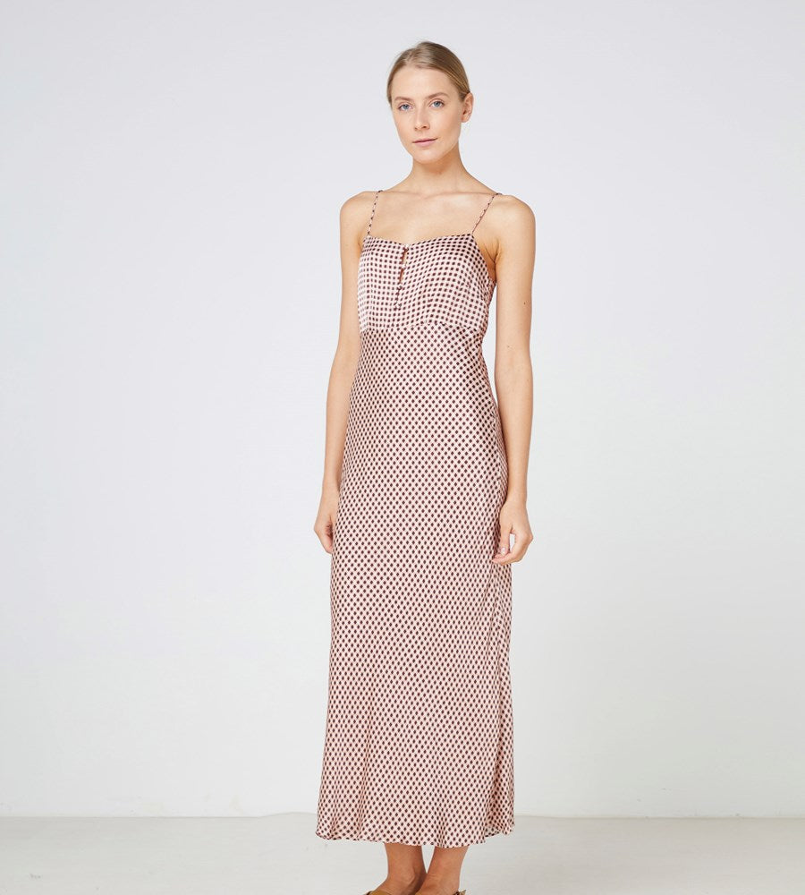 Elka Collective | La Rochelle Dress | Blush Gingham