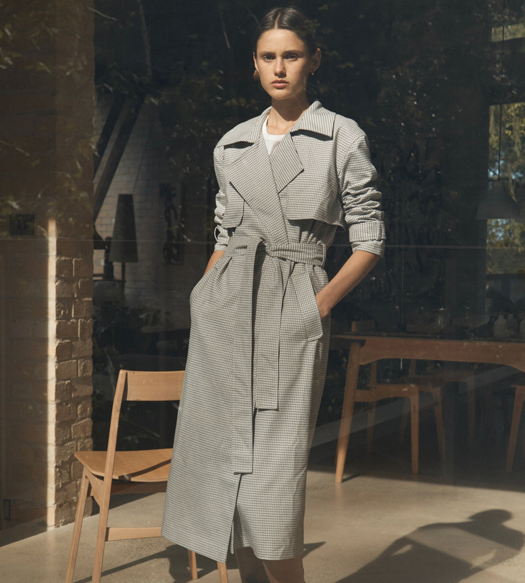 Elka Collective | London Trench | Grey Check