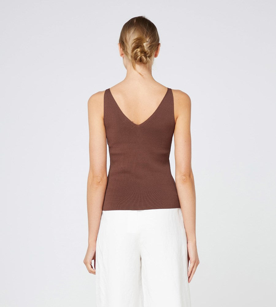 Elka Collective | Lyon Knit Top | Chocolate