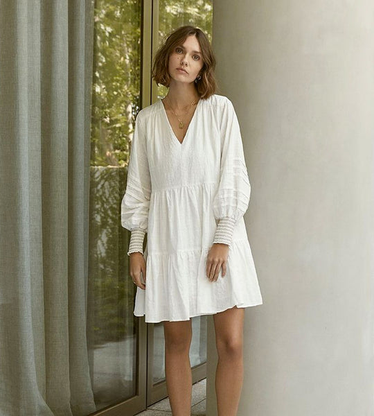 Elka Collective | Nadia Dress | White