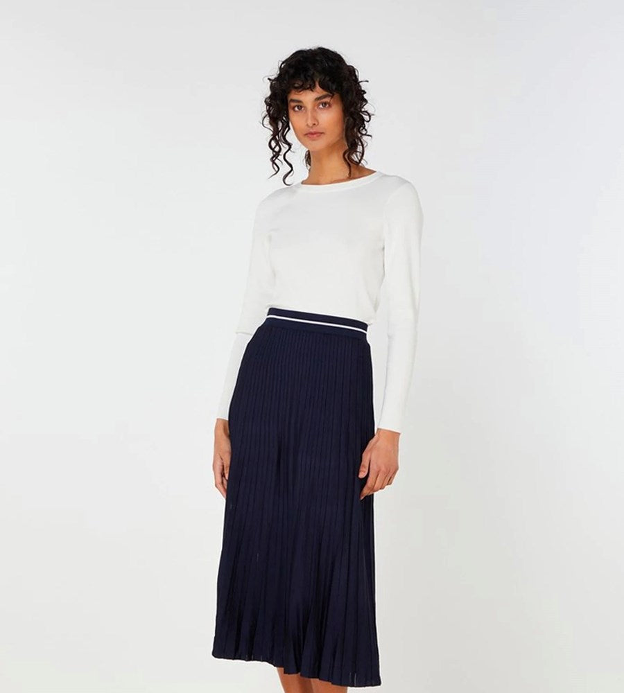 Elka Collective | Palmer Knit Skirt | Navy
