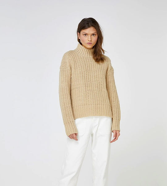 Elka Collective Raina Knit Wheat