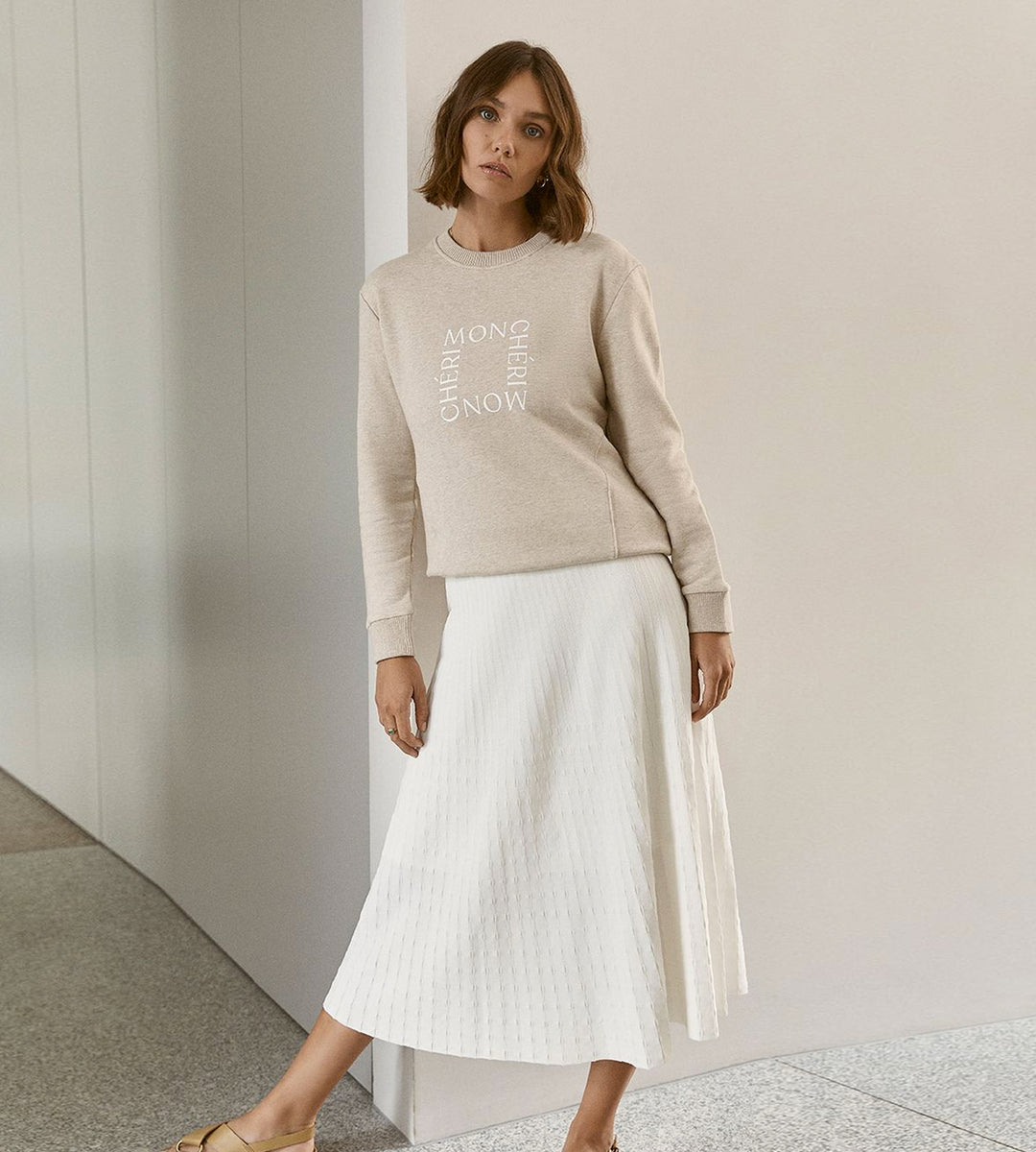 Elka Collective | Raquel Knit Skirt | White