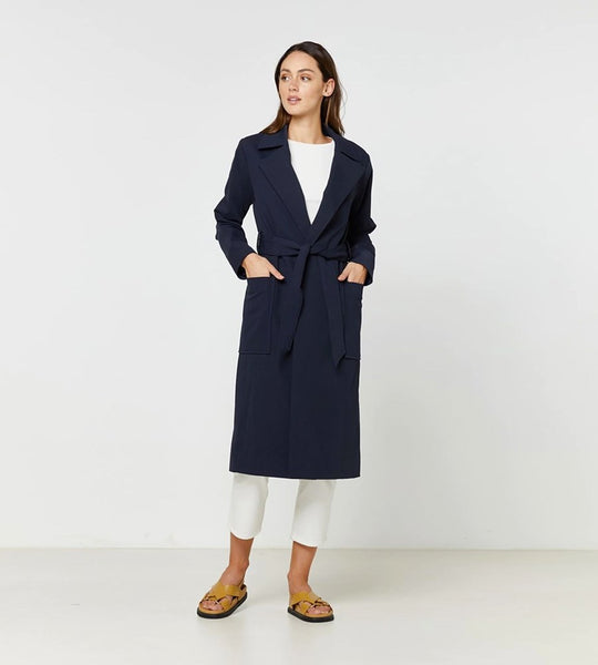 Elka Collective | Thea Coat | Navy