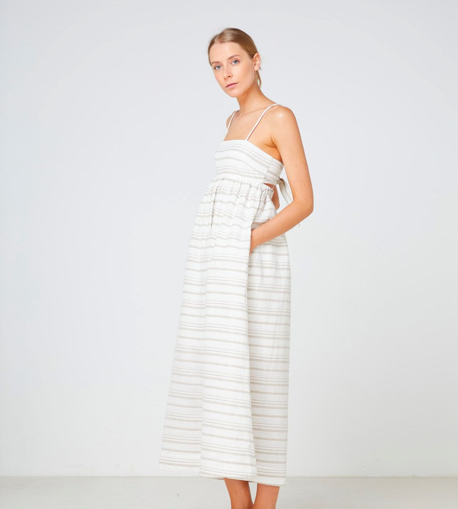 Elka Collective | Tuscany Maxi Dress | Natural Stripe