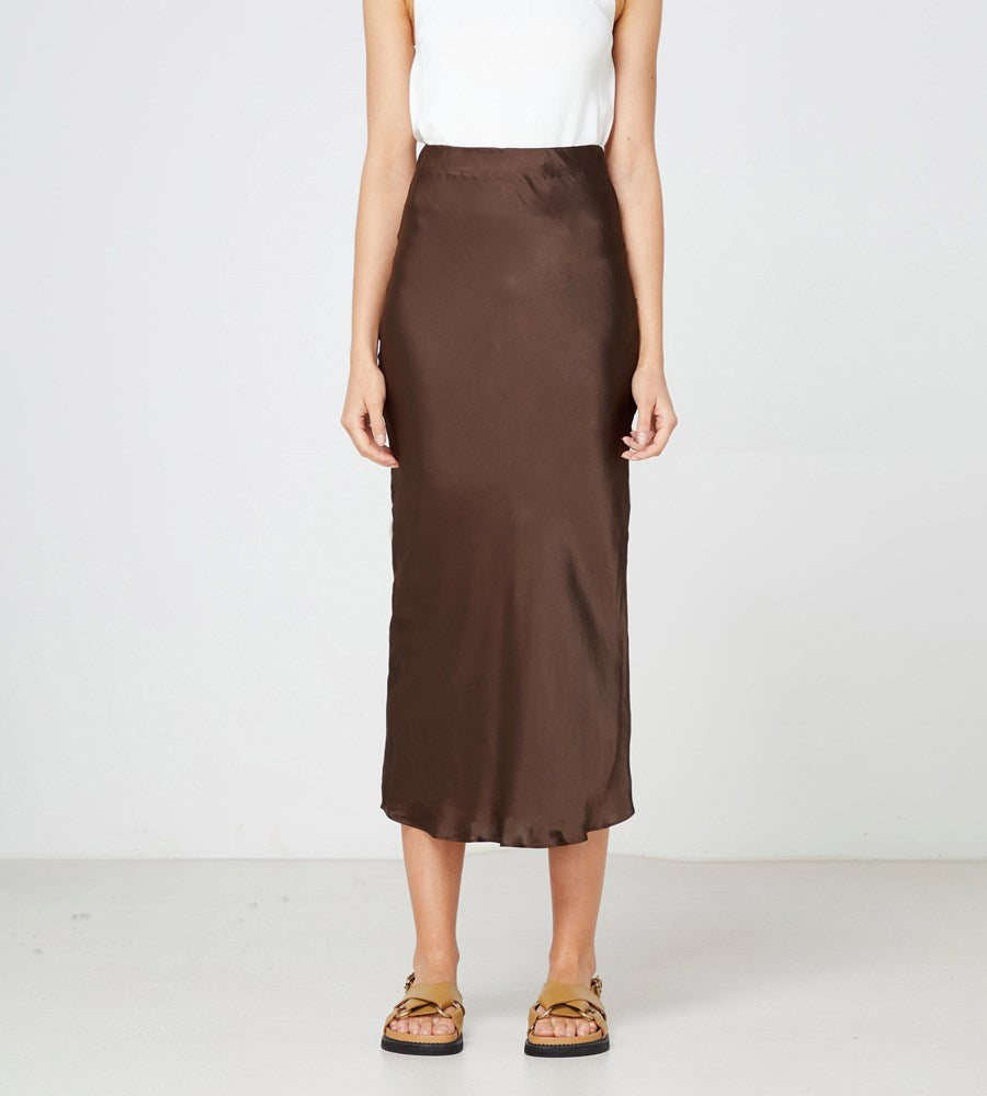 Elka Collective | Versailles Skirt | Chocolate