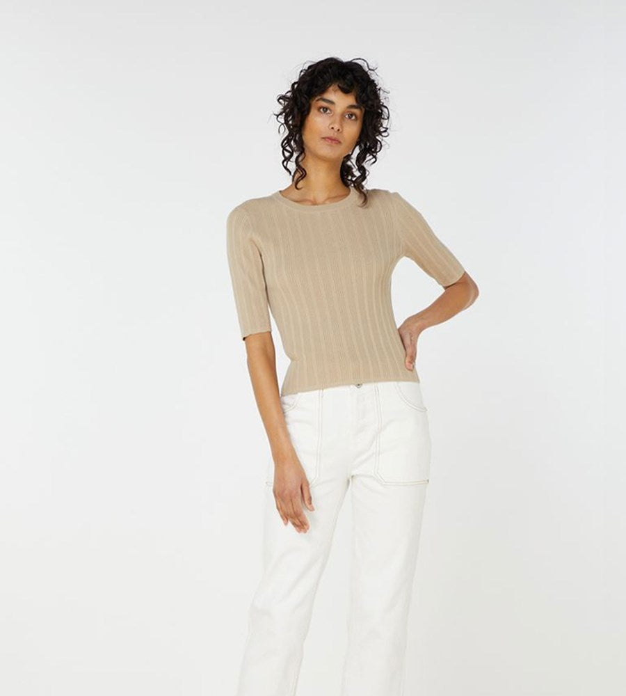 Elka Collective | Yana Knit Top | Light Taupe