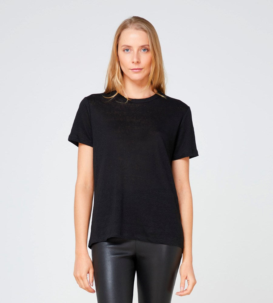 Elka Collective | EC Linen Crew Neck Tee 2.0 | Black