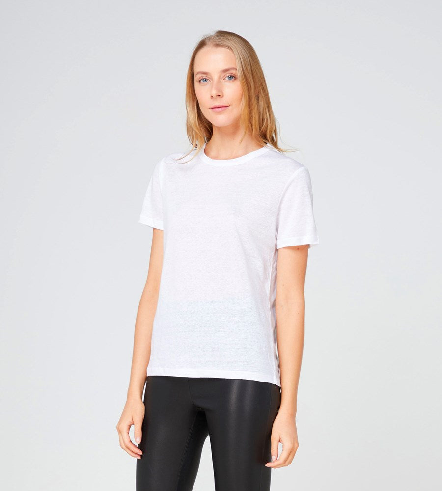 Elka Collective | EC Linen Crew Neck Tee 2.0 | White