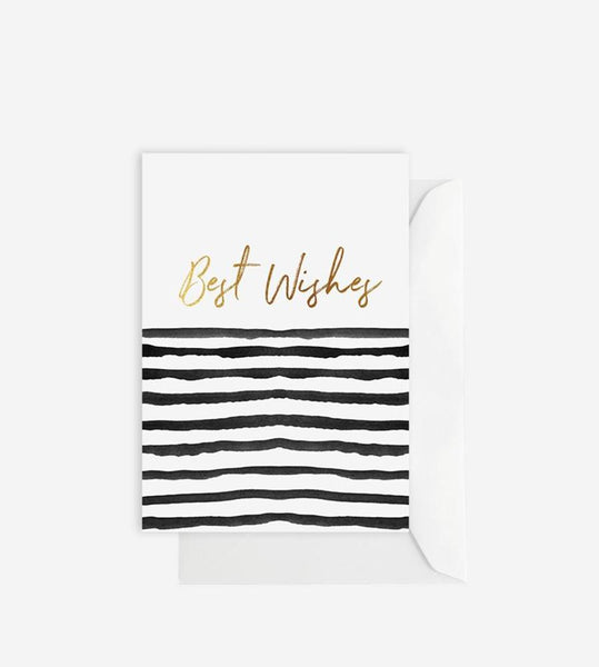 Elm Paper | Best Wishes Stripe Card