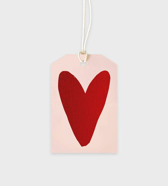Elm Paper | Red Foil Heart Gift Tag