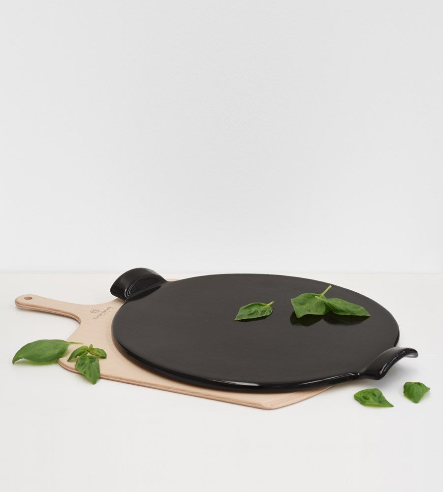 Emile Henry | Pizza Stone With Wooden Peel