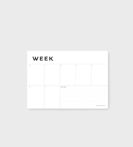Father Rabbit Stationery | A4 Week Planner