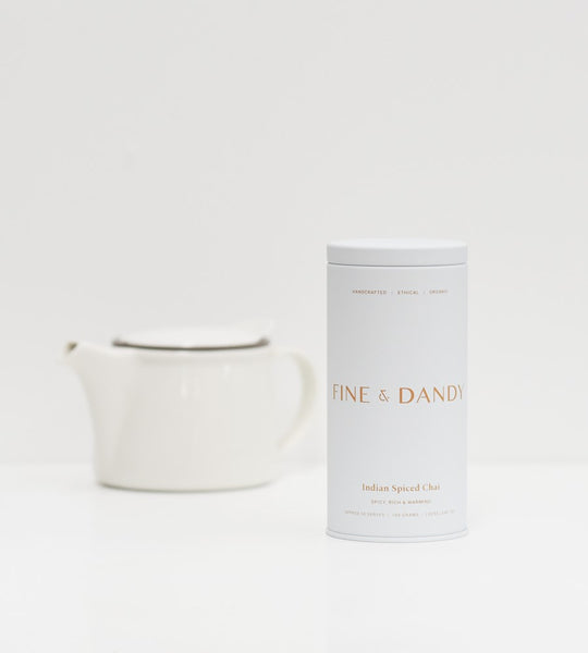 Fine & Dandy | Tea Tin | Fair Trade Organic Indian Spiced Chai Tea