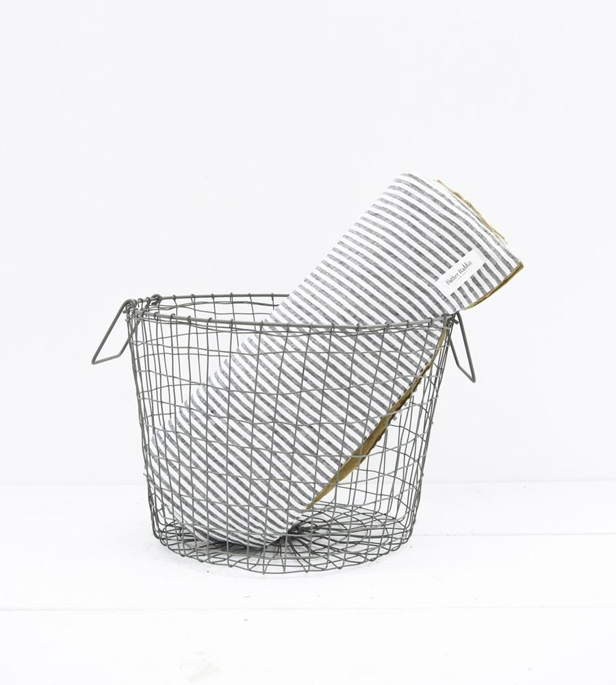 fog linen large grey wire basket