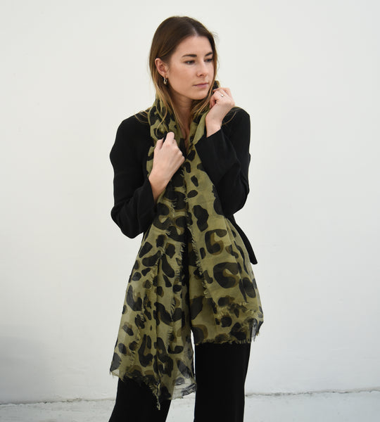 Sophie | Wild Maxi Scarf | Olive