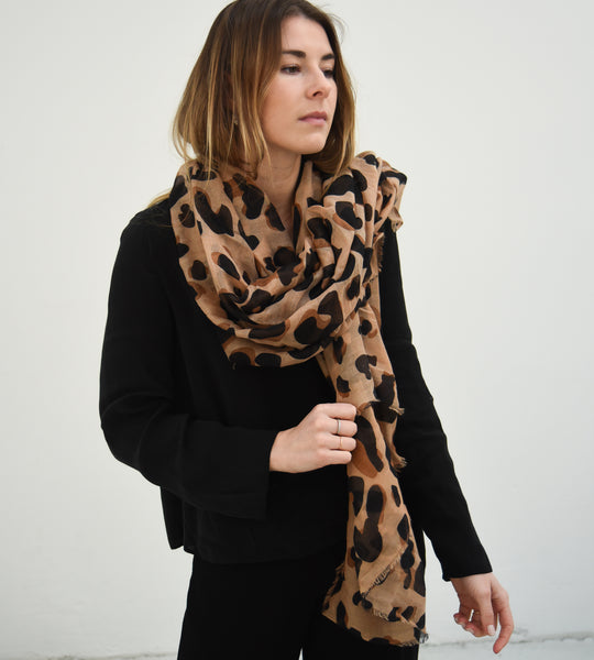 Sophie | Wild Maxi Scarf | Camel