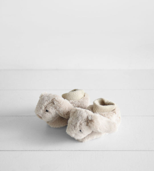 Bashful Bunny Booties | Beige