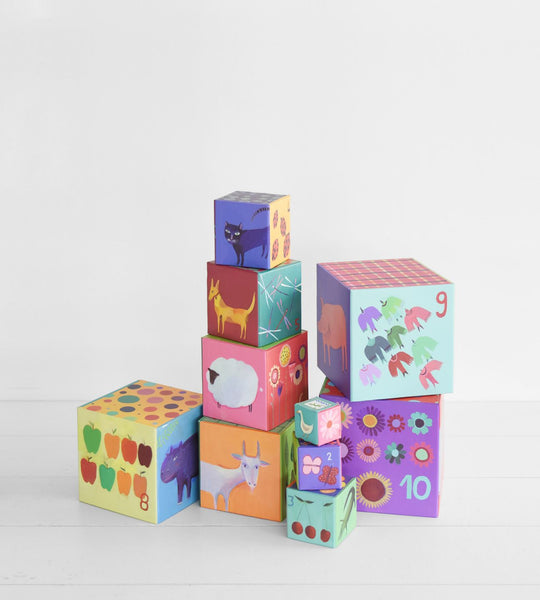 Djeco | Nature & Animal Stacking Blocks